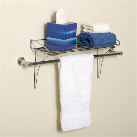 where to install towel bar in bathroom zenith products over the towel bar shelf chrome
