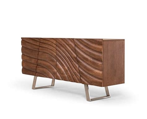 modern walnut furniture modern walnut buffet vg050 modern buffets stations