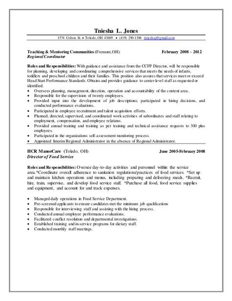 Resume Directions by Special Education Coordinator Resume Direction