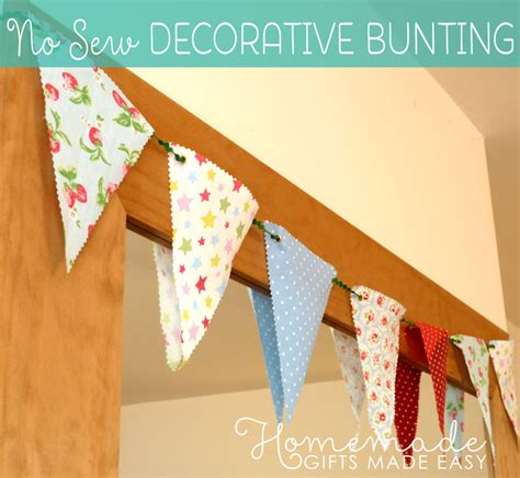 Decorative Bunting decorative bunting easy no sew fabric banner bunting