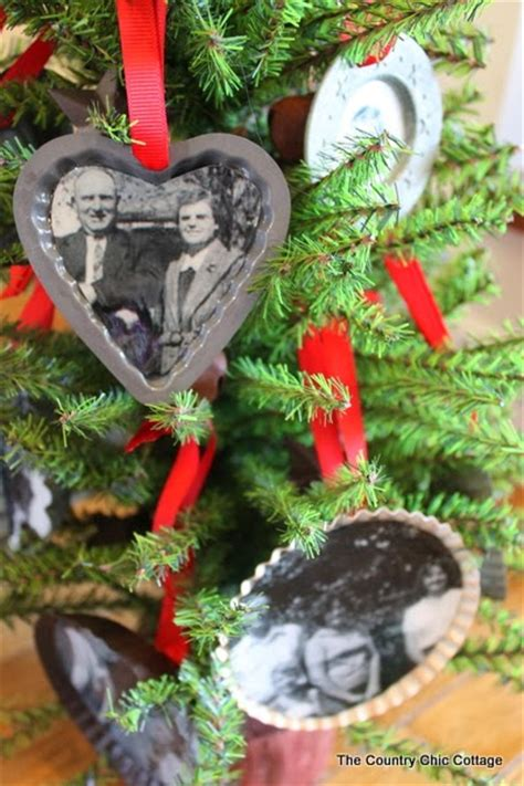 Handmade Tree Ornaments - handmade gift family tree ornaments the country chic