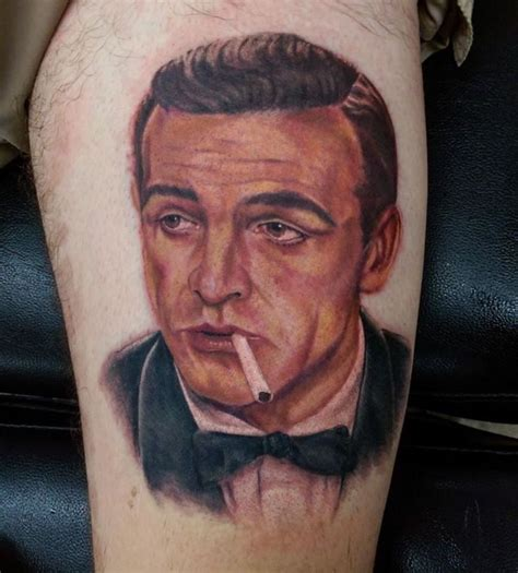 sean connery tattoo bond 007 connery portrait by devin