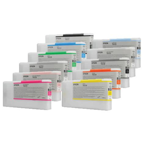 Printer Epson 4900 Inkjet set of 10 genuine empty epson 4900 inkjet cartridges t6531 t6532 t6533 t6534 etc ebay