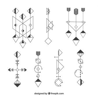geometric tattoo vector rubber st vector free download
