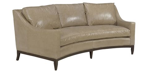 loveseat styles cedric quot designer style quot curved conversation sofa leather