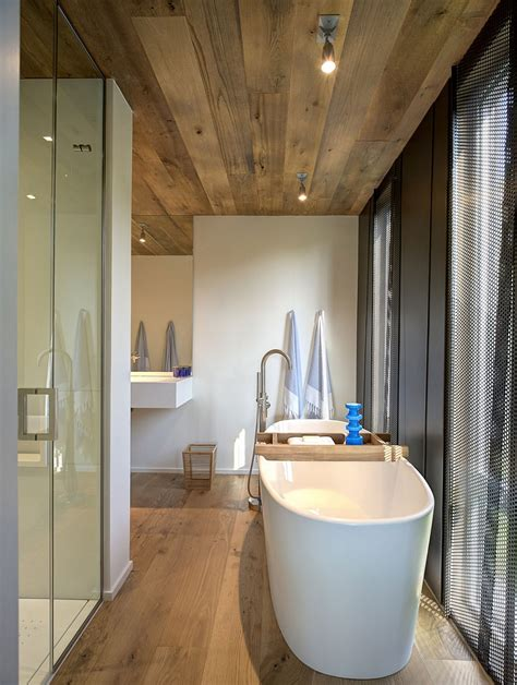 home alone bathroom waterfront new york home gets a steely new extension with
