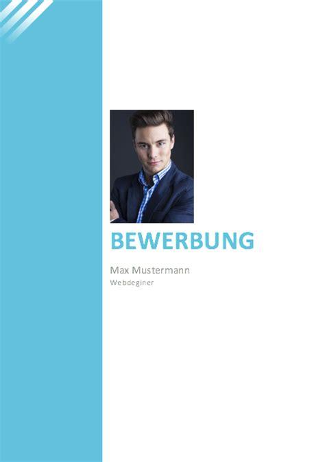 Deckblatt Vorlagen Blau deckblatt f 252 r die bewerbung kostenfreie muster 2018