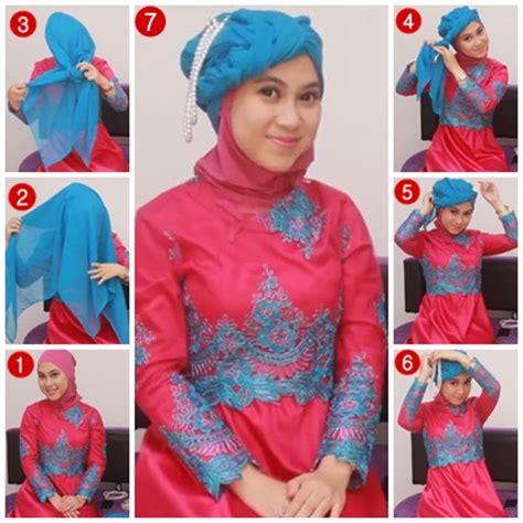 tutorial hijab paris dengan kebaya tutorial hijab untuk kebaya 1