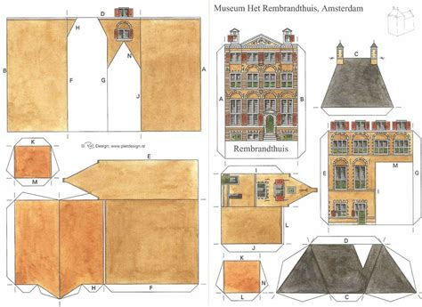 Paper At Home - paper model of rembrandt s house webshop museum
