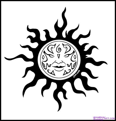 tribal sun tattoos pictures how to draw a celtic sun design step by step tattoos