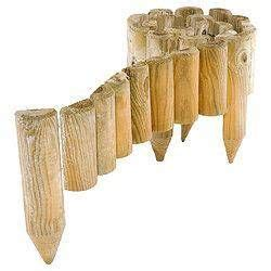 rowlinson spiked garden border roll   pack wood