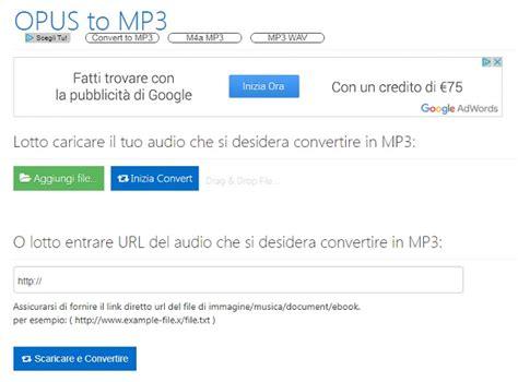 converter opus to mp3 5 siti per convertire file opus in mp3 online e gratis