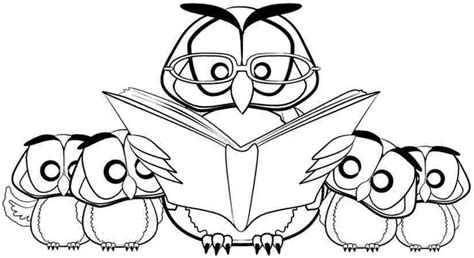 owl reading coloring page owl coloring pages for kids az coloring pages
