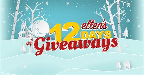 What Is The 12 Days Of Giveaways Ellen - ellen s 12 days of giveaways winners 2017 winzily
