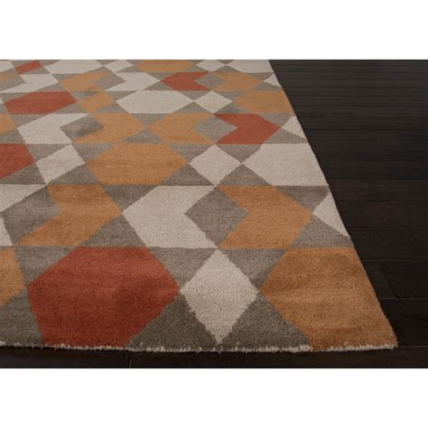 and brown rugs jaipurliving aztec orange brown area rug wayfair
