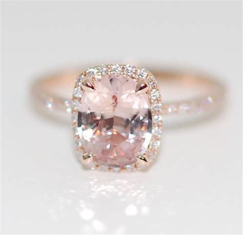 Blue Safir Sapphire 1 8ct chagne sapphire ring 14k gold