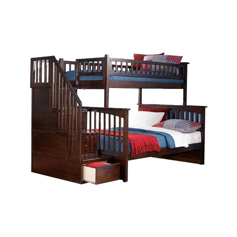 Bunk Bed Stairs Sold Separately Atlantic Furniture Columbia Staircase Bunk Bed Ab55704