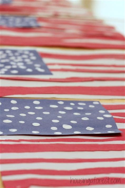 american flag crafts for simple american flag craft for housing a forest