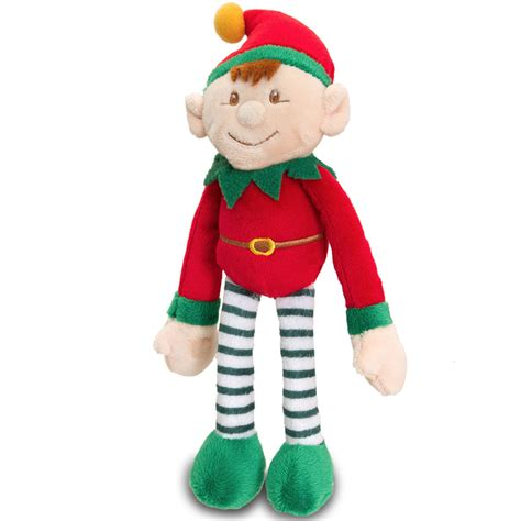 small santa s elf plush toy red keel toys christmas