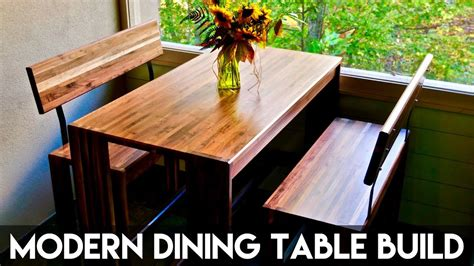 how to make a bench for dining table how to build a modern dining table and benches woodworking