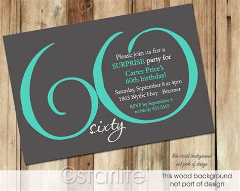 60th birthday invitations templates free printable 60th birthday invitation templates