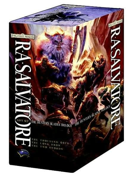 libro drizzt 016 hunters blades forgotten realms hunter s blades trilogy gift set the thousand orcs the lone drow the two