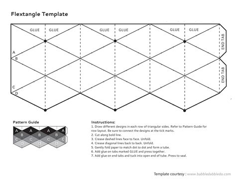 How To Make A Flexagon Out Of Paper - template hexaflexagon template hexaflexagon template