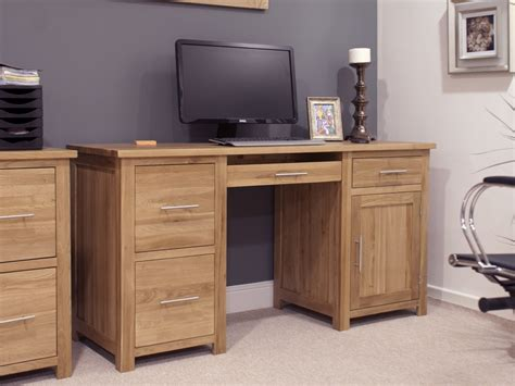 oak computer desk eton solid oak furniture large office computer desk