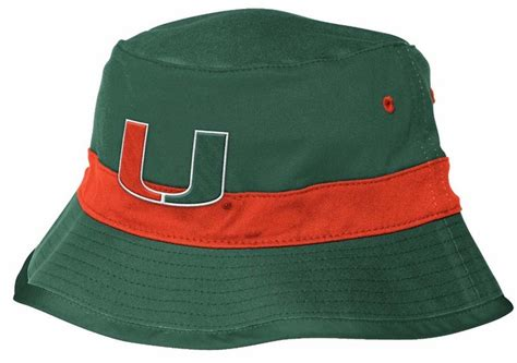 miami hurricanes fan gear miami hurricanes adidas fan gear striped bucket hat
