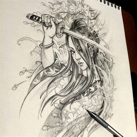 warrior girl tattoo designs best 25 japanese warrior ideas on