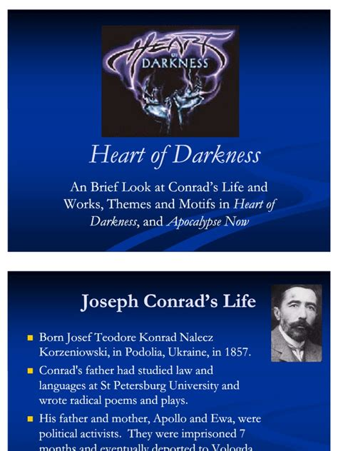 heart of darkness overall theme heart of darkness presentation heart of darkness