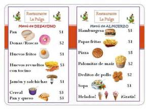 spanish menu clipart clipart kid free mostly templates
