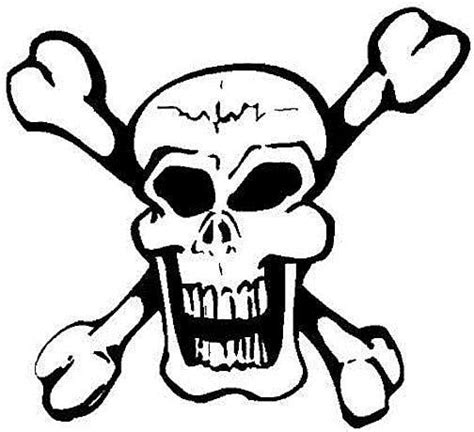 coloring pages of skull and crossbones skull and bones coloring pages clipart best