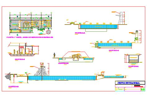 swimming pool detail section bloques cad autocad arquitectura download 2d 3d dwg