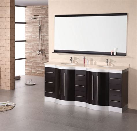 72 inch modern double sink bathroom vanity withtravertine