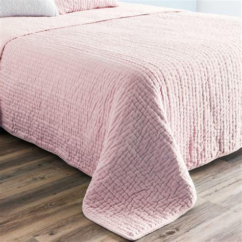 V Bed Sprei Single No 3 Uk 120x200x30 Emerald pink velvet quilted bedspread 240 x 260 cm maisons du monde