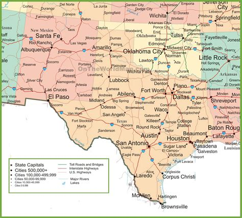 road map of new mexico and texas map new mexico and texas