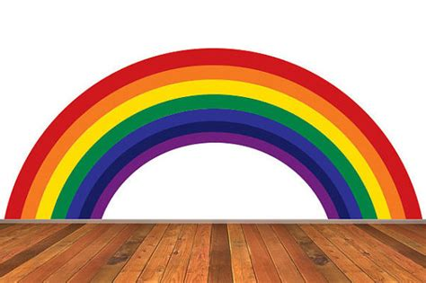 wall stickers rainbow rainbow wall decal traditional colors removable reusable