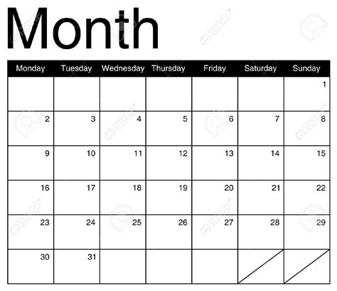 template for a calendar monthly monthly calendar 2017 printable calendar