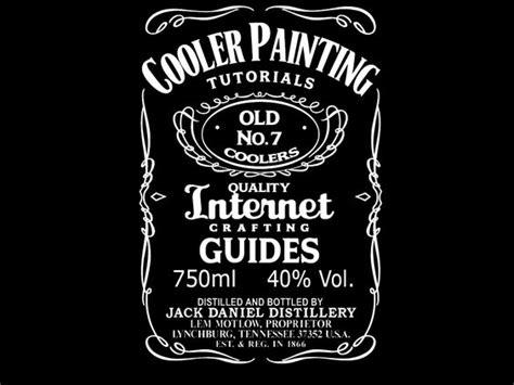design jack daniels label cooler painting coolers and jack daniels on pinterest