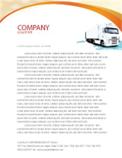 trucking company letterhead templates truck tractor letterhead template layout for microsoft word adobe illustrator and other