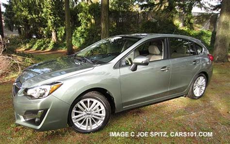 green subaru hatchback 2015 impreza 5 door hatchback exterior photos and images