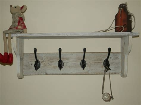 hat and coat rack with shelf shabby chic distressed rustic
