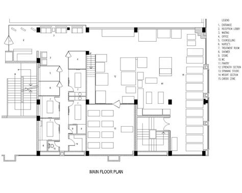 floor plan for gym crunch gym spa fitness centre by vivea