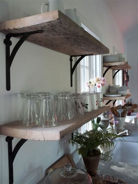 open shelving shelf brackets and rustic shelves on pinterest