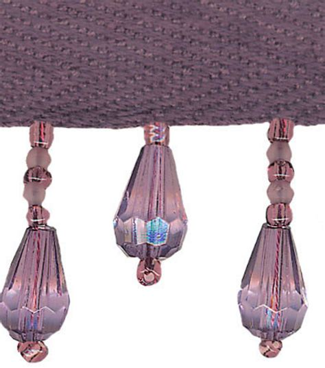 home decor trim home decor trim conso 1 amethyst teardrop fringe jo ann