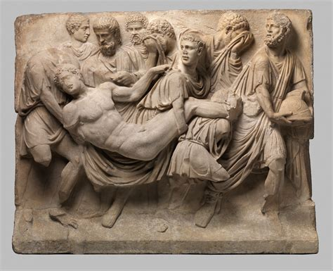 marble sarcophagus fragment roman mid imperial
