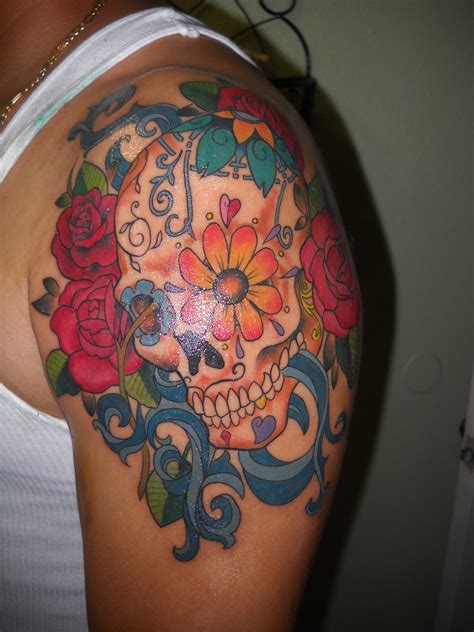 candy skull tattoo sugar skull jmg creations