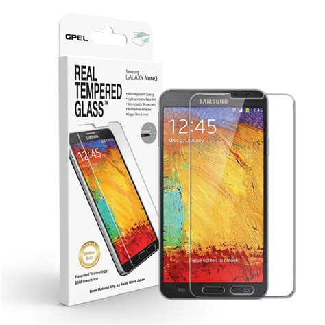 Tempered Glass Note 3 Galaxy Note 3 Screen Protector Real Tempered Glass Premium Collection Of Cases And Screen