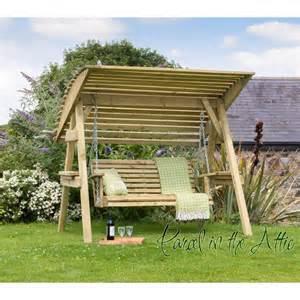 Seat wooden garden swing chair seat hammock bench furniture lounger